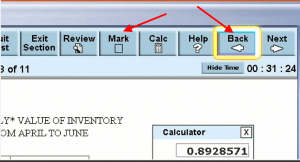 New GRE 2011 Mark and Go back and Calculator