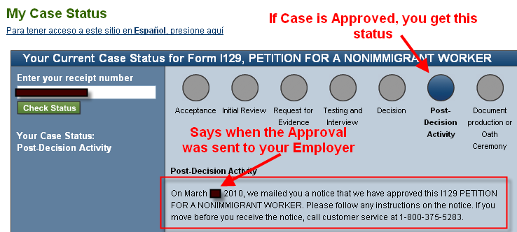 Post Decision activity for approved H1B transfer - H1B : Processing